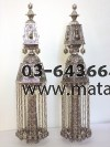 Pure Silver Delicate Torah Finials 925 w/ Stalactites