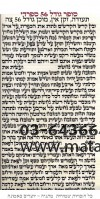 Sefer Torah Parchment  Itamar 37
