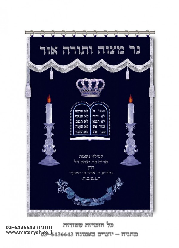 Shabes Candles & Tablets - Royal Blue w/ Silver