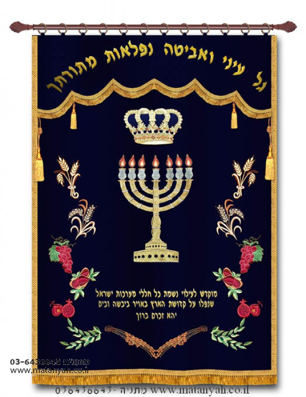 Seven Species & Menorah Parochet