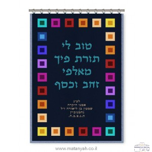 """Tov Lee"" Colorful Choshen Parochet"
