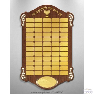 Buy a modern Eitz Chaim Memorial Board (Birds/64 platelets) and get a classic Memorial Board (Wood /24 platelets) for FREE !!