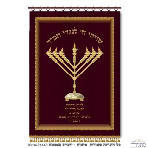 Menorah Rambam Bordeaux & Gold