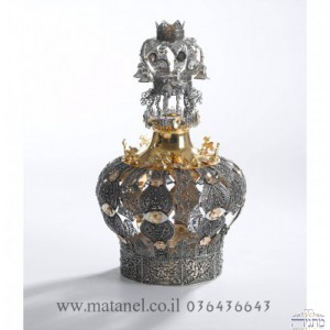 Elaborate Gold Silver Crown
