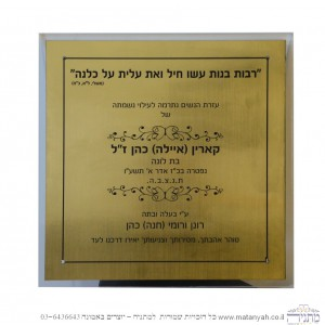 Single Memorial Plaque