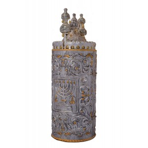Menorah Flower Decorative Torah Case