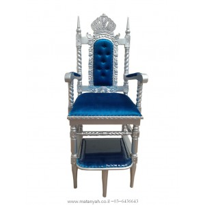 New Elijah Chair - Silver & Blue