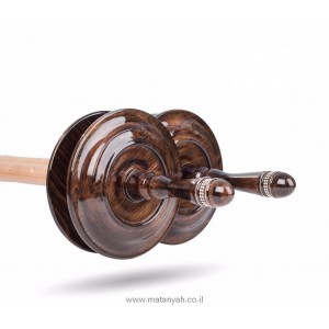 Torah Rollers  diamond - Integrated with wood