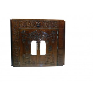 Vilna Gate w/ Vines Ornament Hand Carved Mahogany