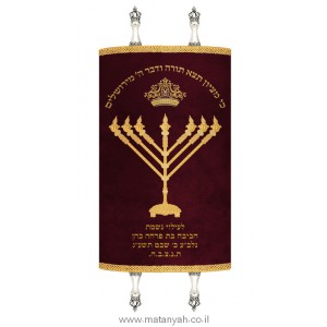 NEW Rambam Menorah Mantel