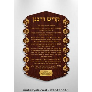 Kaddish Yatom - Lighted Rimonim & Menorah Border