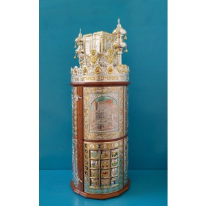 Torah Case - Judaic in Silver integrated w/ Wood