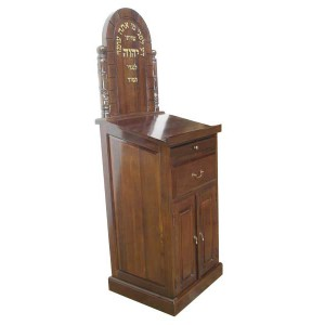 Prayer Podium shined Dark Walnut