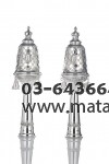 Sterling Silver Finials w/ Decorative Design