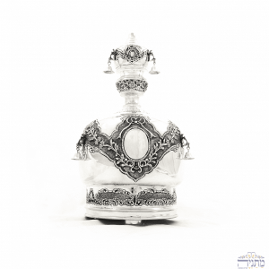 Sterling Silver Crown - Elegant Closed Motif