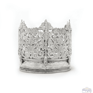 Sterling Silver Crown - Woven Motif