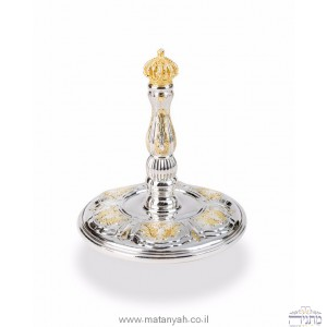 Sterling Silver with Gold Plated Crown - Torah Roller