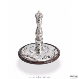 Torah Rollers  Silver - Integrated with wood