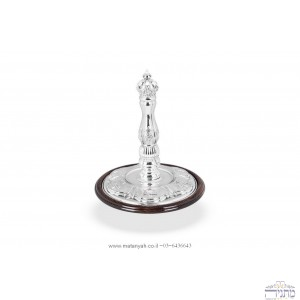 Torah Rollers  Silver Crown - Integrated with wood