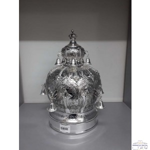 Silver Plated Crown - Enclosed w/ Bells