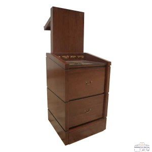 Prayer Podium- Dark Brown w/ Drawers