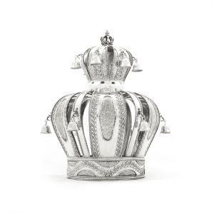 Sterling Silver Crown - Leave Motif