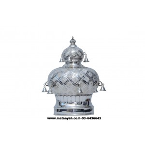 Silver Plated Crown - Square Design w/ Bells