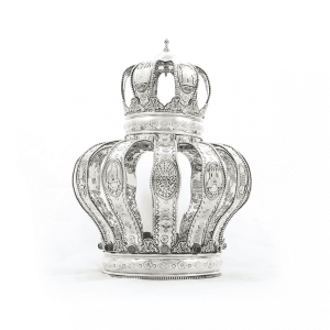 Sterling Silver Crown - 12 Tribes Motif