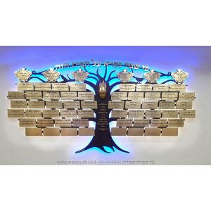 Tree of Life Donors Board w/ 5 Crowns 56