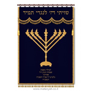 Large Menorah Parochet