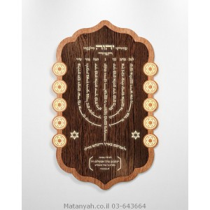 Lamnatzeach Menorah  Board - Solomon's Shield
