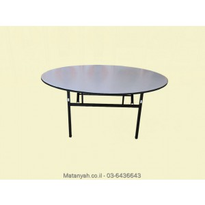 Round table folding table 8 people American standard