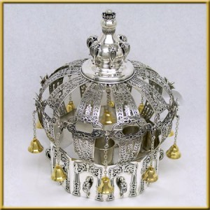 Pure Silver Hollow Short Crown