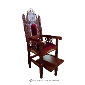Elijah Chair Luchot and gilded crown