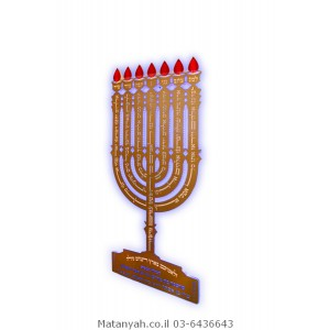 Menorah with Lamnatzeach board