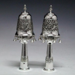 Sterling Silver Finials w/ Decorative Bell Design