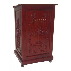 Prayer Podium on wheels round menorah